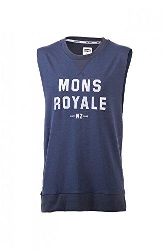 Mons Royale Merino Riders T-Shirt sans Manches pour Homme S Noir - Charcoal W/Silver