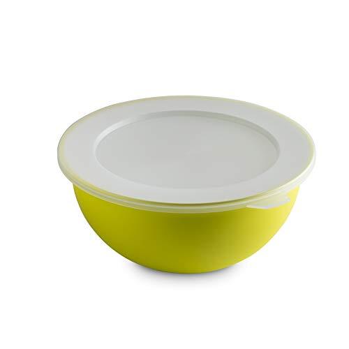 Omada Design tazón 1,5 lt + tapa, 20 cm de diámetro, interior blanco coloreado por fuera, en polipropileno y Microban antibacteriano
