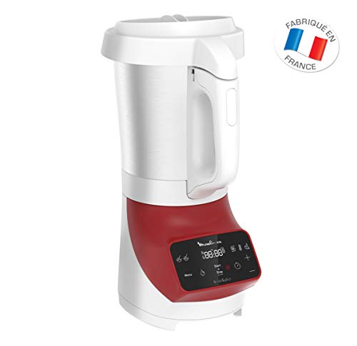 Moulinex Standmixer Soup & Co Mixer Suppen Gaspachos Smoothies Compotes 1100 W 1,8 l Rot - 2L Touchscreen