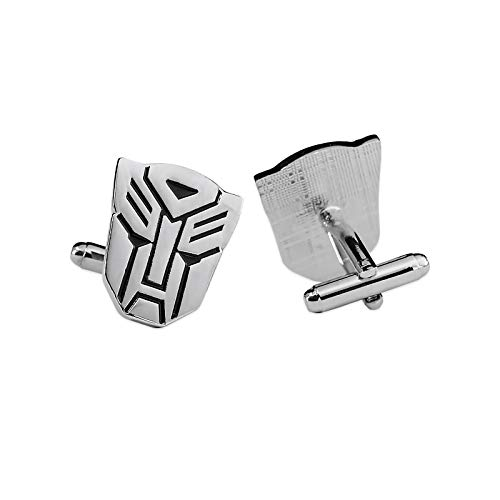 The Masonic Exchange Transforming Auto Robot Cuff Link Pair - [Silver][7/8'' Tall]