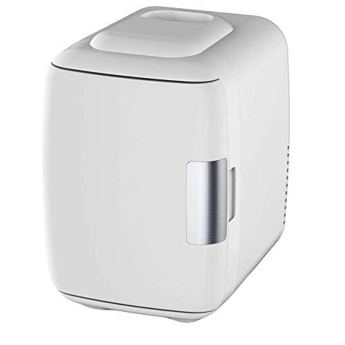 LFK Pequeño refrigerador Mini Refrigerador, Refrigerador Eléctrico Y Calentador (4 litros / 6 Latas) - Sistema Termoeléctrico Portátil AC/DC