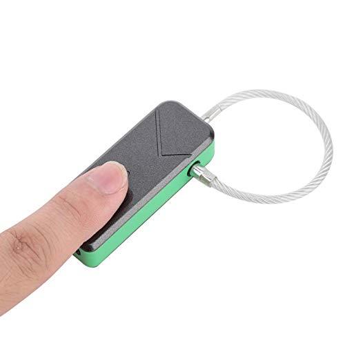 Candado de seguridad sin llave, impermeable, con reconocimiento automático, para huellas dactilares, pequeño y portátil con bajo consumo de energía, para el hogar