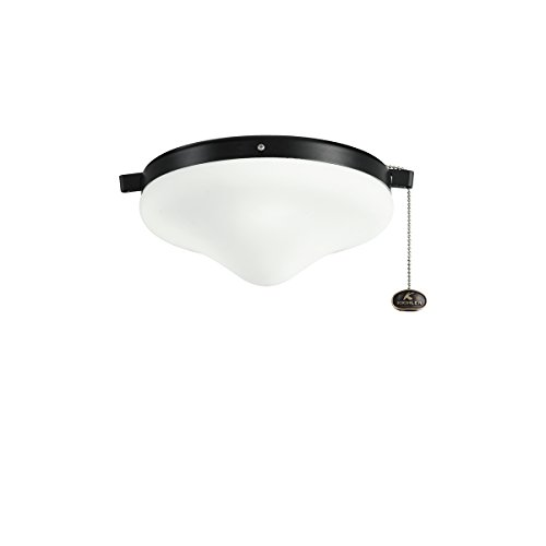 Kichler 338050SBK, Cased Opal Glass Outdoor Wet Light Kit - Not For Use with a Remote, Satin Black
