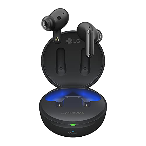 LG Tone Free FP8 - Enhanced Active Noise Cancelling True Wireless Bluetooth Earbuds(TWS) with Meridian Sound, UVnano Kills 99.9% of Bacteria on Speaker Mesh, Immersive 3D Sound, 3 Mics