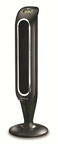 Honeywell Fresh Breeze Tower Fan with Remote Control HYF048 Black With Programmable Thermostat, Timer Shut-Off Function & Dust Filter
