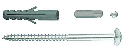 GAH-Alberts 554415 Schraubenset | Zubehör für Fenster-Gitter zur Befestigung | Schrauben-Set verzinkt | 4 Stück Schrauben & Dübel | 105 x 7 mm