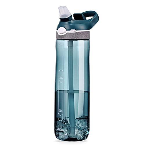 SDGSDG Protección del medio ambiente Botella deportiva sin BPA/Taza de paja portátil-Ink_750ml/ Botella de agua deportiva para gimnasio, viajes, oficina y hogar