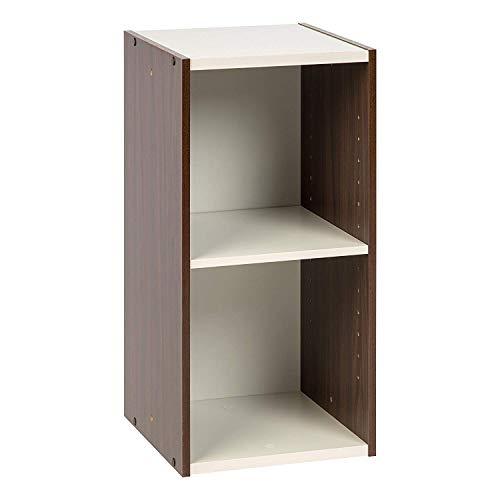 Amazon Marke - Movian Speichereinheit Kleiner Raum, Braun und Weiß, 35 x 29 x 60 cm