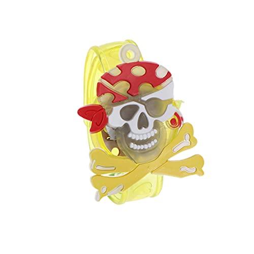 ABOOFAN Muñequera de Halloween Luminosa Pirata Muñequera Juguetes Brillo Led Pulsera de Seguridad Nocturna Muñequera para Niños Fiesta de Cumpleaños Festival de Cumpleaños