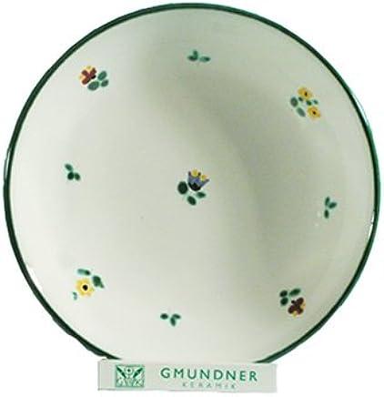 Preisvergleich für GMUNDNER KERAMIK Suppenteller Cup | Durchmesser : 20 cm | Streublume | Geschirr, handgemacht in Österreich