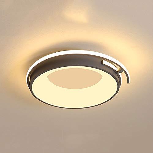 Xungzl Luz de techo de la decoración del hogar de la decoración del hogar de estilo nórdico, LED redondo creativo de 11.8 pulgadas, Lámparas de techo de tres colores (3000K-6000K), adecuada para acces