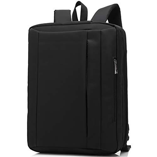 HE-XSHDTT Laptop Bag, Large Expandable Briefcase Business Travel Bag Computer Office Bag Backpack Bag For Men Women Water Resistant Anti Theft Durable,black,17 inches