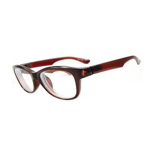 インスタントめがね 近視補正用メガネ IN-3001-2 クリアブラウン -5.00 【目安視力:0.04~0.02】