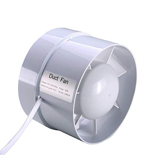 ZQYR Extractor Fans@ 210m³ / h Aspirateur Extraction Ventilation Standard de Silence pour Salle de Bain, Cuisine, à Faible consommation d'énergie 150mm, 18W