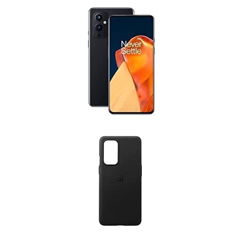 OnePlus 9 5G Smartphone Senza SIM con Fotocamera Hasselblad, 8 GB RAM + 128 GB, Nero (Astral Black) + Sandstone Bumper Custodia, Nero [Esclusiva Amazon]