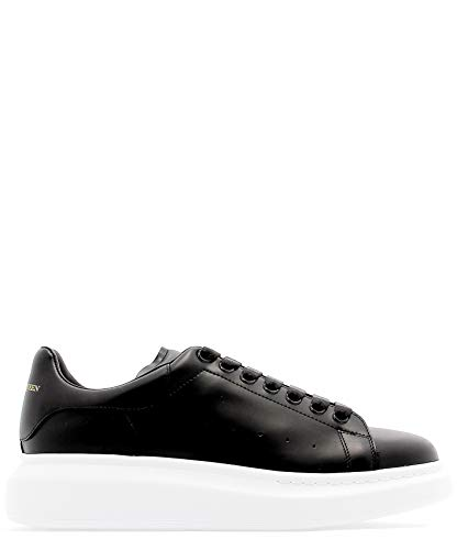 Luxury Fashion | Alexander Mcqueen Heren 553680WHGP51000 Zwart Leer Sneakers | Seizoen Permanent