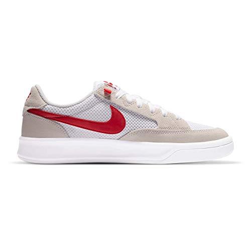 Nike SB Adversary - Zapatillas de skate para hombre (blanco/rojo universidad), color blanco, blanco (blanco/rojo (White/University Red)), 43 EU