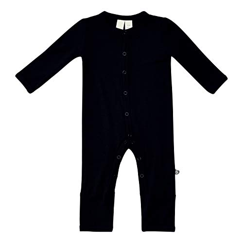 KYTE BABY Unisex Soft Bamboo Rayon Rompers, Snap Closure (3-6 Months, Midnight)