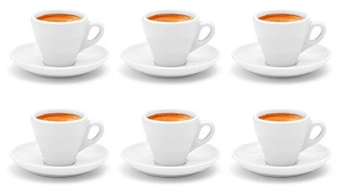 Luxpresso dickwandige Espressotassen Italia, weiß aus Porzellan - 6 Stück