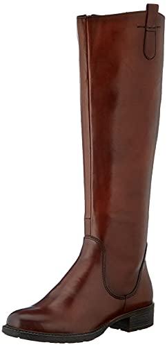 MARCO TOZZI Damen 2-2-25505-25 Leder Langschaftstiefel Kniehohe Stiefel, Cognac Antic, 39 EU