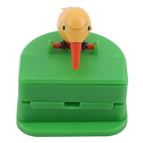 Aiasiry Creative Bird Shape Automatische Zahnstocher-Spenderbox Zahnstocherhalter Haushalt, gelber Vogelgrüner Hintergrund