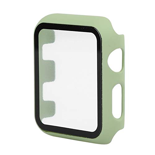 DAUERHAFT Protection intégrale en Verre trempé PC Protecteur d'écran Protecteur d'écran Touches sans entrave pour Les Montres Bon Toucher Couleur Vert Menthe Creux arrière(42MM)