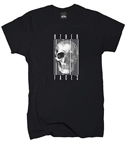 Wolkenbruch® T-Shirt Other Faces Skull, schwarz, Gr.XXL