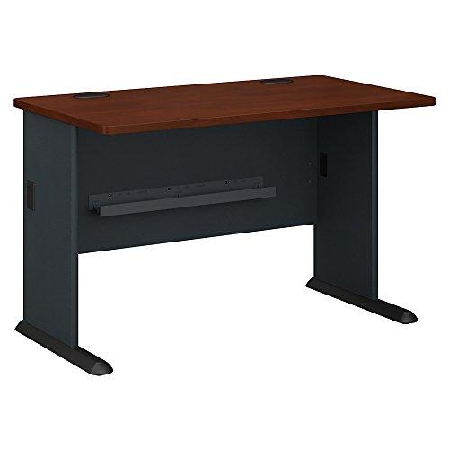 Bush Business Furniture Series A 48W Desk - Hansen Cherry/Galaxy 48W X 27D X 30H ERGONOMICHOME BUSH BUSINESS FURNITURE