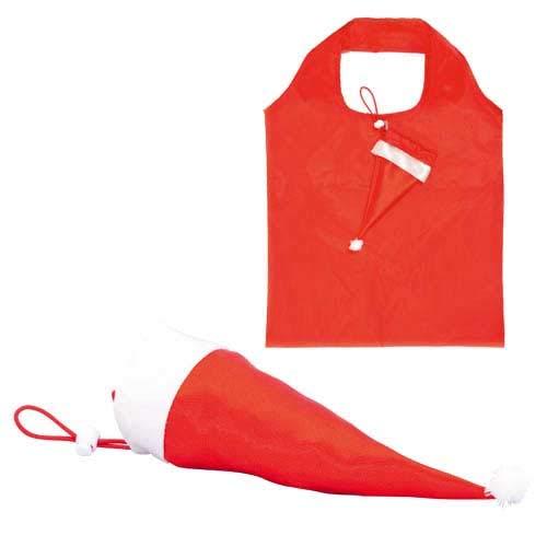 Lote de 30 Bolsas Plegables Re-utilizables de la compra Navidad, Gorro Papa Noel - Regalos y Detalles originales para Navidad