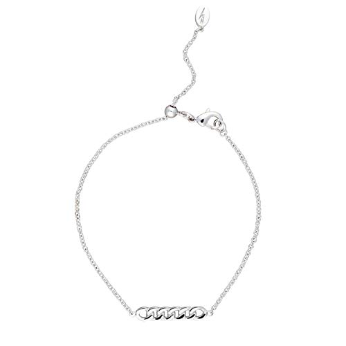 Scream Pretty - Silver Plated Chain Reaction Bracelet with Slider Clasp