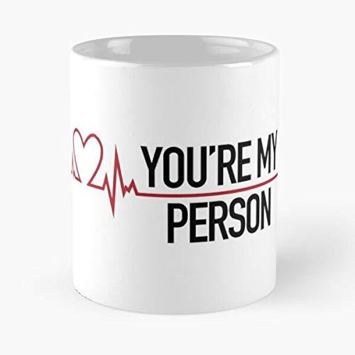 Youre My Person Greys Quote Koffiemokken, 30 ml, keramiek, wit, personaliseerbaar