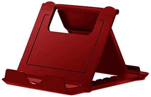 MYLB foldable phone stand, Multi-Angolo supporto telefono regolabile, Universale porta cellulare da tavolo per Phone 11 pro max,se2020, Huawei, Samsung Altri 4 a 10 pollici Smartphone e tablet - Rosso
