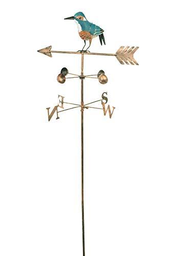 east2eden Metal Wild Bird Design Wind Weathervane Weather Vane Garden Ornament Decoration (Kingfisher)