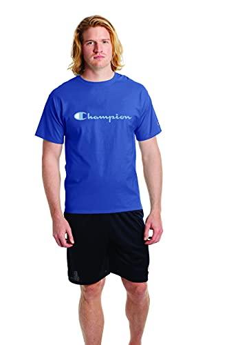 Champion Camiseta clásica para hombre con estampado de pantalla, Classic Sky Blue-y07718, Medium