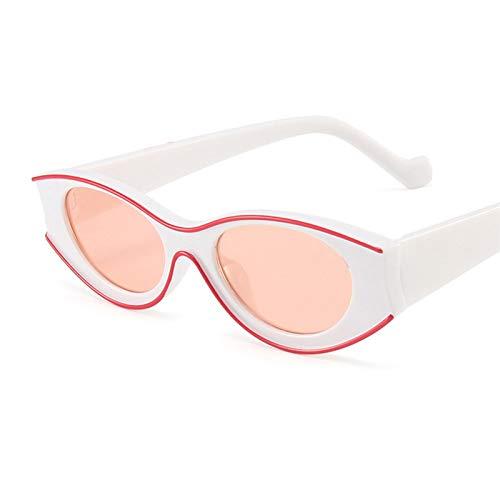 Beautymei Gafas de sol ovaladas de moda, estilo retro, UV400, gafas de sol para mujeres y hombres (rosa)