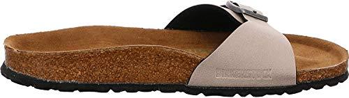 BIRKENSTOCK Madrid Birko-Flor schmal Pantolette, Pull up stone (Beige), Gr.- 41 EU