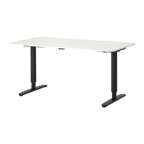 Ikea Bekant - Mesa de escritorio, color blanco y negro