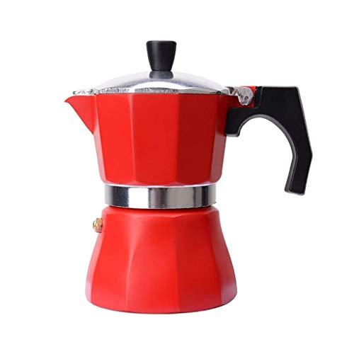 Moulin à café manuel -Mocha machine à café Mocha machine à café en aluminium de qualité alimentaire avec machine à café dix coin, 3 tailles, 1/3 / 6 tasse (taille: 8 * 15,5 cm (3 tasses)) Haike WTZ012