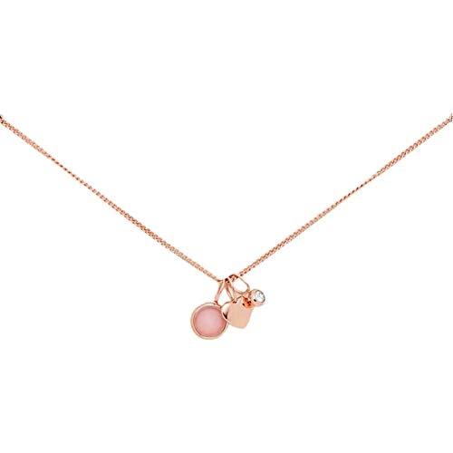 Fossil Damen Halskette Heart and Rose Quartz Necklace