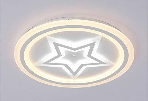 HIL LED lámpara de techo moderna simple estrella Luna Infinity atenuación niño habitación habitación chica sala de estar iluminación (blanco 50 * 5 55W 3850lm)