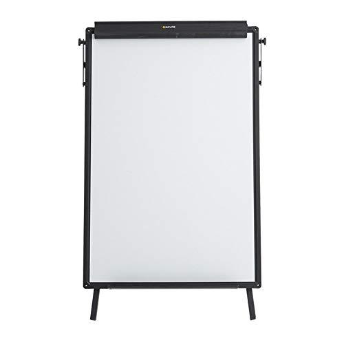 PQXOER Tableau Blanc Portable Trépied Tableau Blanc avec Clip Flip Carte de démonstration réglable Papier + 3 effaçables Stylos, 1 Tableau Noir Gomme, 12 Boutons magnétiques Tableaux magnétiques