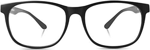 DUCO ブルーライトカット メガネ パソコン用 メガネ pc メガネ blue light glasses 青色光 カット メガネ 超軽量 2144 (ブラック)