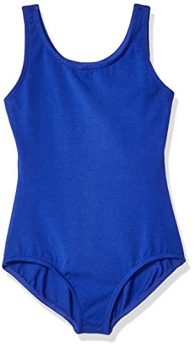 Capezio Girls' Big High-Neck Tank Leotard, Royal, Large