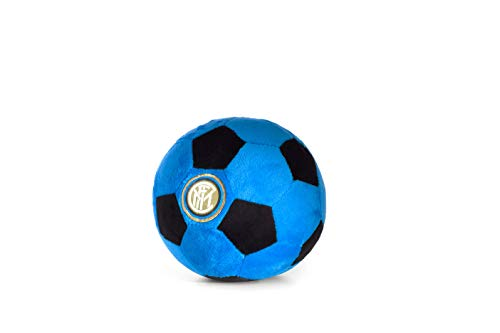 Inter Soccer Ball Plush Oficial FC, Pelota de Peluche, Color Negro y Azul, 16 cm