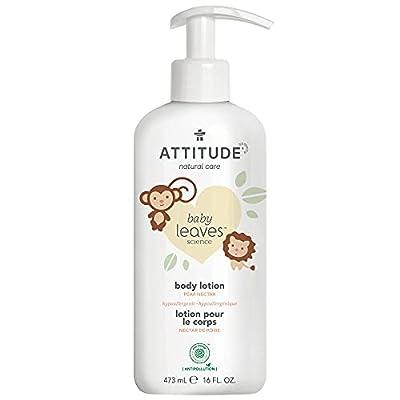 ATTITUDE Natural Baby Body Lotion for Sensitive Skin, EWG Verified, Hypoallergenic, Dermatologist Tested, Pear Nectar 16 Fl Oz by ATTITUDE Bio Spectra