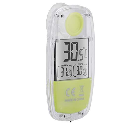 Jeanoko Solarthermometer LCD-Thermometer Heimthermometer Thermometer mit großem LCD-Display für zu Hause