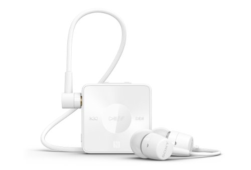 Sony SBH20 - Auriculares in-ear USB (control remoto integrado), blanco