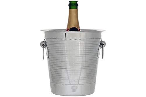 Cosy & Trendy Perle - Seau à Champagne - Acier Inoxydable - (Lot de 2) et Un Menu de Cuisine Yourkitchen pour Noël
