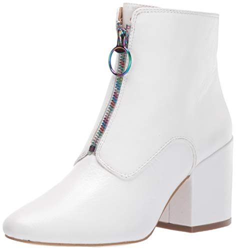 Katy Perry Women's The Justine Ankle Boot, White, 6.5 M Medium US