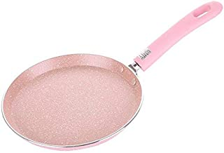 6/8/10 Inch Grill Pans Non Stick No Smoke Stone Easy Cleaning Household Kitchen Cookware Frying Pan pink 6 inch